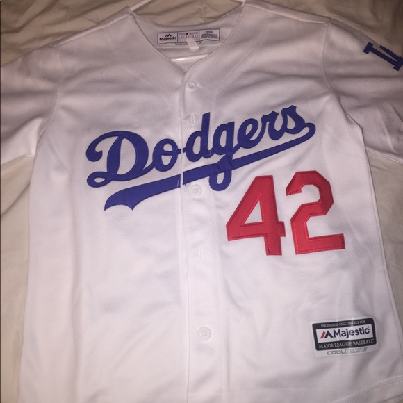 buy online f28e5 08794 (NEW) Youth Medium #42 Jackie Robinson Jersey